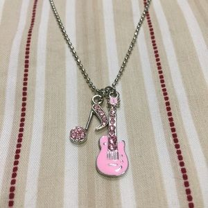 Cookie Lee Guitar & Musical Note Necklace